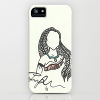 Pocahontas Zen Tangle iPhone & iPod Case by Jadie Miller