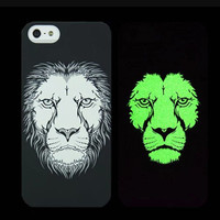 Lion Animal Handmade Sketch Luminous Light Up iPhone Cases for 5S 6 6S Plus Free Shipping