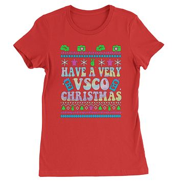 Have A Very Vsco Ugly Christmas Womens T-shirt