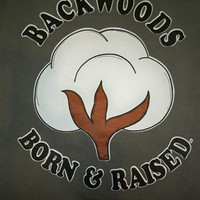 Southern Chics Backwoods  Born & Raised Cotton  Bright T Shirt