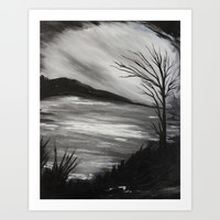 Black and White Landscape Art Print by Liveart4evr