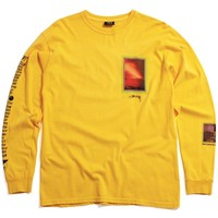Inferno Pigment Dyed Longsleeve T-Shirt Gold