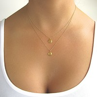 2 Initial Gold Layered Necklace
