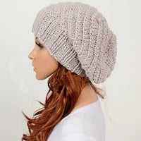 Slouchy Woman Handmade Knitted Hat .. on Luulla