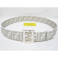 Fendi Fashion Smooth Buckle Belt Leather Belt