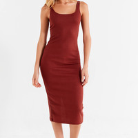 UO Bella Ribbed Knit Bodycon Midi Dress | Urban Outfitters