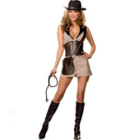 Dreamgirl Womens Treasure Hunter Halloween Party Dress Costume