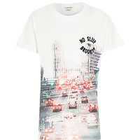 River Island Boys Brooklyn city print t-shirt
