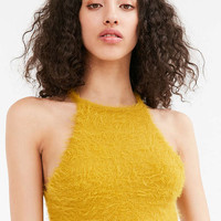 Kimchi Blue Cassie Fuzzy High Neck Cami - Urban Outfitters