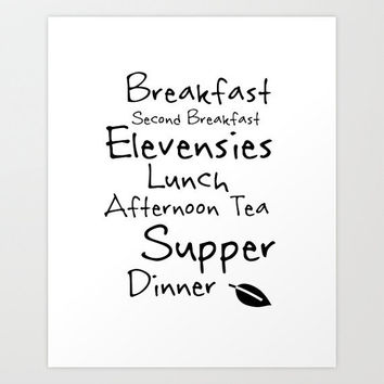 Lord of The Rings Poster, Hobbit Meals, Kitchen Art, Movie Poster, Middle Earth