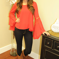 Told My Heart Top: Red