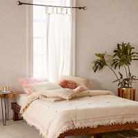 Eloisa Carved Wood Platform Bed - Urban Outfitters