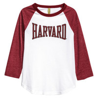 H&M Printed Jersey Top $14.99