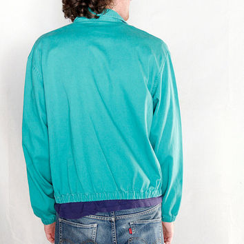 Vintage 1980's Ralph Lauren Polo Jacket // 80's Teal Polo jacket by Ralph Lauren Mint condition // Made in USA