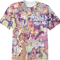 SCOOBY DOO Retro Collage Tee created by retrofreak | Print All Over Me