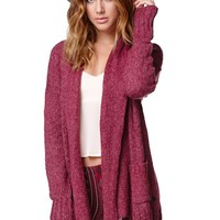 Hurley Noelle Cardigan - Womens Sweater - Red