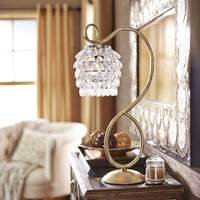 Swirls & Drops Lamp - Gold