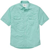 WLS Short Sleeve Fishing Shirt in Aqua by Southern Proper