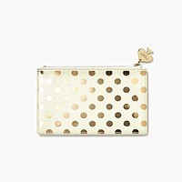 Pencil Pouch in Gold Dots by Kate Spade New York