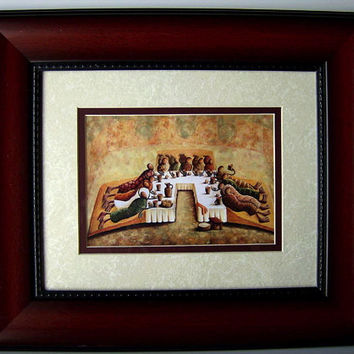 The Lord's Last Supper - Framed