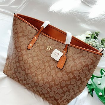 COACH Fashion New Pattern Print Leather Shopping Leisure Shoulder Bag Handbag