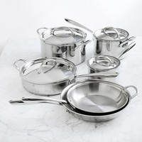 Williams Sonoma Signature Thermo-Clad™ Stainless-Steel 10-Piece Cookware Set