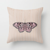 Butterfly Throw Pillow by Ornaart