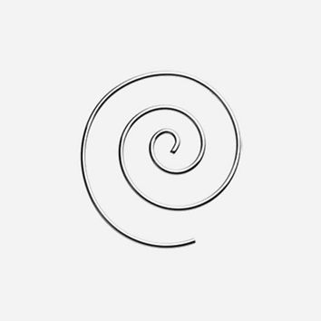 Steel Spiral Coiled Earring