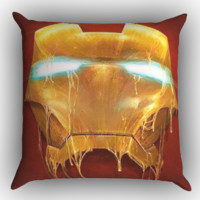 Iron man Mask X0016 Zippered Pillows  Covers 16x16, 18x18, 20x20 Inches