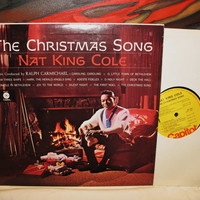 Amazing The Christmas Song Nat King Cole Vinyl Record LP SM 1967 33 Capitol NM