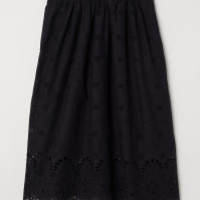 H&M Skirt with Eyelet Embroidery $49.99