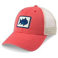 Skipjack Fly Patch Trucker Hat in Charleston Red by Southern Tide
