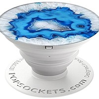 PopSockets: Collapsible Grip & Stand for Phones and Tablets - Ice Blue Agate