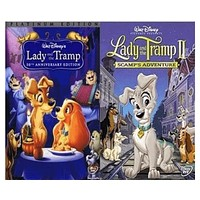 Walt Disney's Lady and the Tramp 1&2 DVD Set 2 Movie Collection