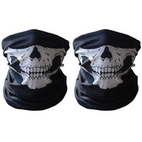 Black Seamless Skull Face Tube Mask Ghosts Balaclava for Cosply Party Hallowe...