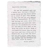 """Letter to Sophie Handmade Paper Print - 12""""x16"""""""