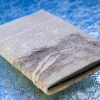 Felted journal, Sketchbook, handmade notebook refillable covers, Lace inbound