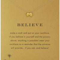 "Believe Necklace 16"" in Gold"