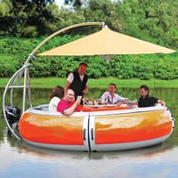 The Barbecue Dining Boat - Hammacher Schlemmer