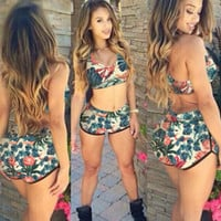 Sexy Retro Women High Waist  swimwear swimsuit bikini