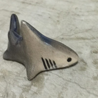 Shark ceramic miniature doll handmade Figurine Statue for Decorative Collectibles small killing animal movie
