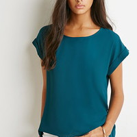 Cuffed-Sleeve Top