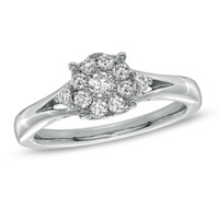 3/8 CT. T.W. Diamond Engagement Ring in 14K White Gold