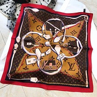 LV New fashion monogram print scarf women Coffee