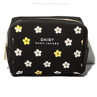 DAISY Women Fashion Shopping Print Flower Cosmetic Bag Leather Handbag Satchel Cosmetic Bag