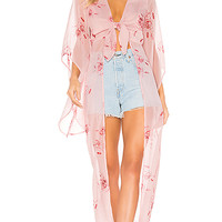 House of Harlow 1960 X REVOLVE Isa Maxi Blouse in Pink Floral | REVOLVE