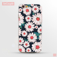 Daisy Flowers Collage Ultrathin Soft TPU Back Case Cover Shell for iPhone 5 5s SE 6 6s 6 Plus 6s Plus 7