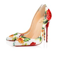 Pigalle Follies 120mm White Hawaii Patent Leather
