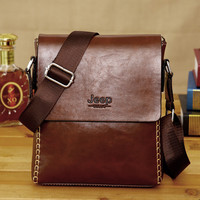 2016 New Men Leather Famous Brand JEEP Messenger Bags Fashion Casual Business Small Shoulder Bags For Man,Men's Travel Bags IPAD