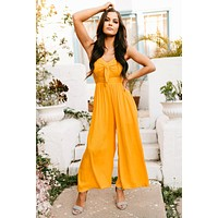 Sunset Stroll Jumpsuit (Yellow)